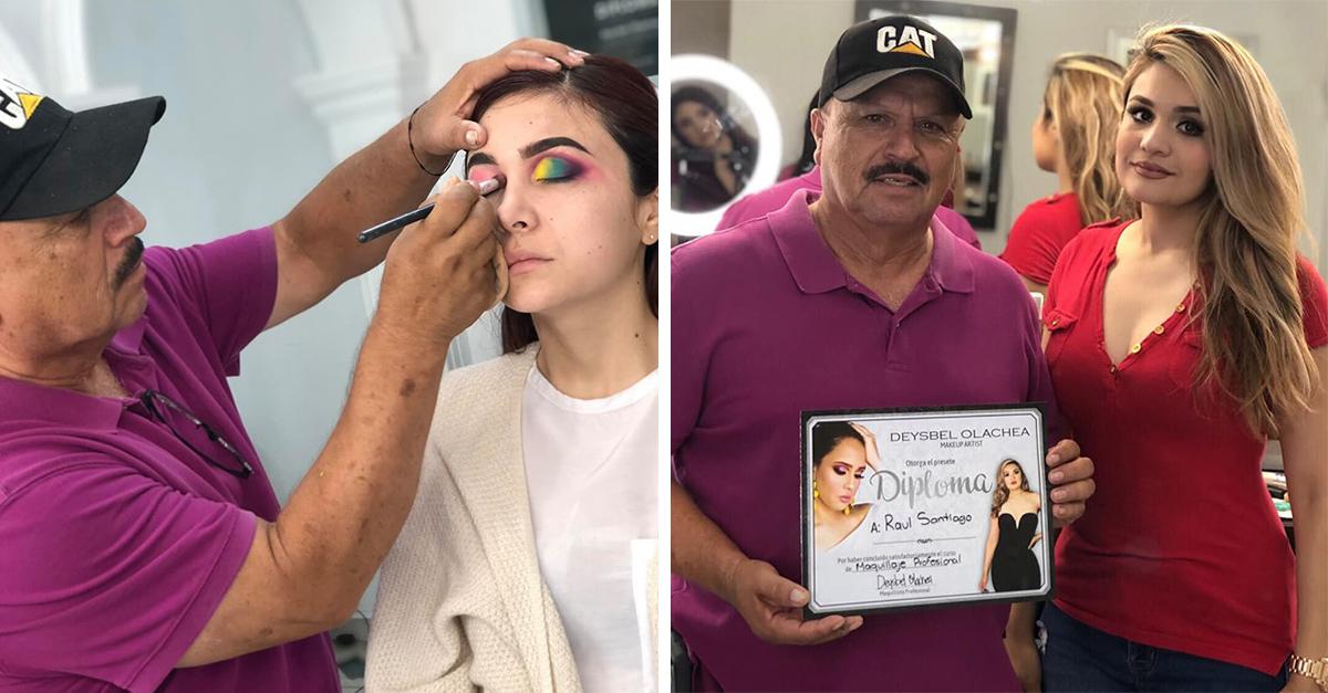 Hombre toma clase de maquillaje profesional y derriba estereotipos