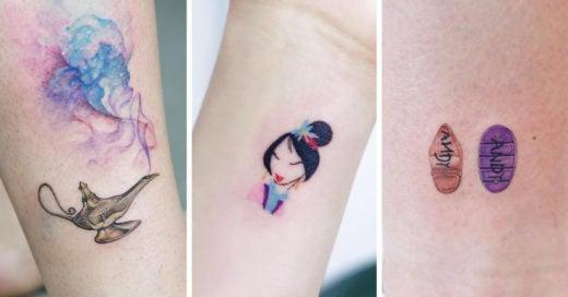 22 Tatuajes de Disney tan discretos que a tu mamá le gustarán