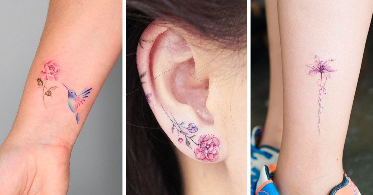 15 Ideas femeninas para hacerte un tatuaje de flores