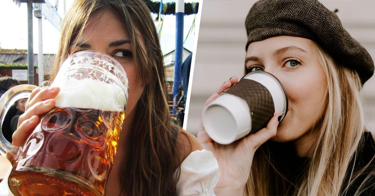 Beber cerveza y café es gracias a los padres