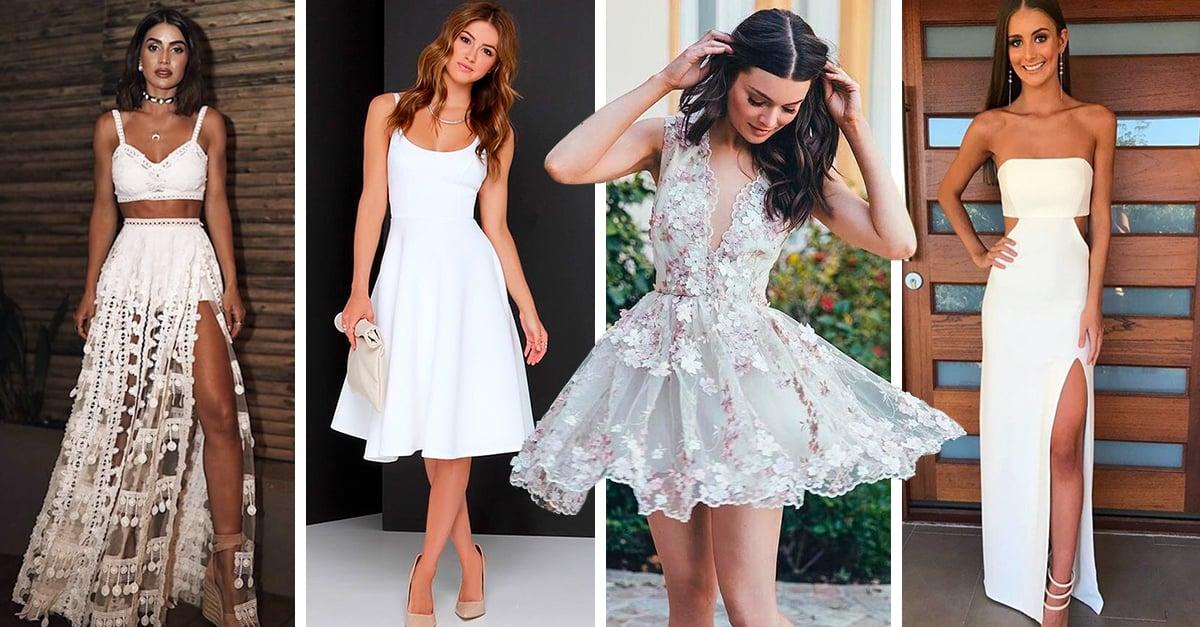 15 Vestidos blancos para brillar en tu graduación