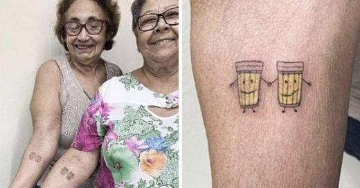 Ellas no alzaron una cerveza para celebrar su amistad ¡se la tatuaron!