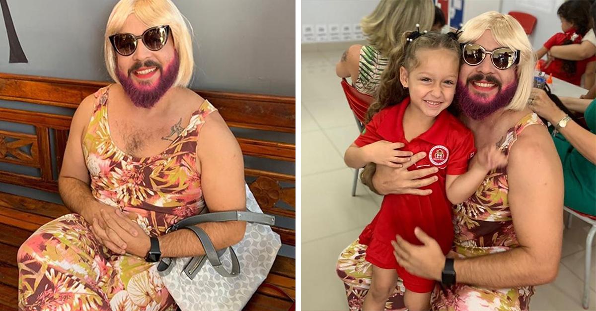 Se disfrazó de mujer para que su hija tuviera a quien cantarle en el Día de las Madres