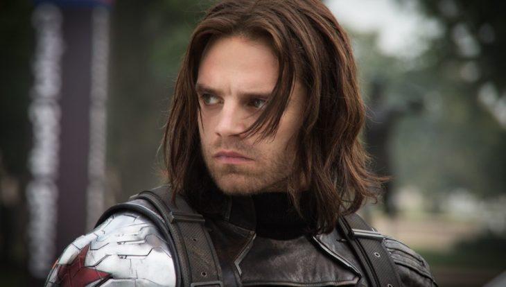 Sebastian Stan vestido como El Soldado del Invierno, Marvel