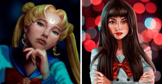 Artista crea ilustraciones realistas de las Sailor Scouts