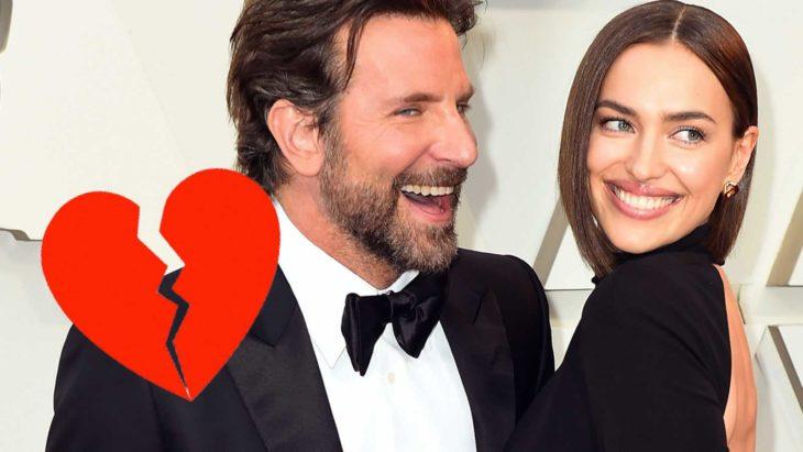 Bradley Cooper e Irina Shayk abrazados y sonriendo en una alfombra roja