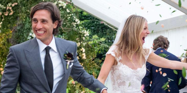 Brad Falchuk y Gwyneth Paltrow en su boda