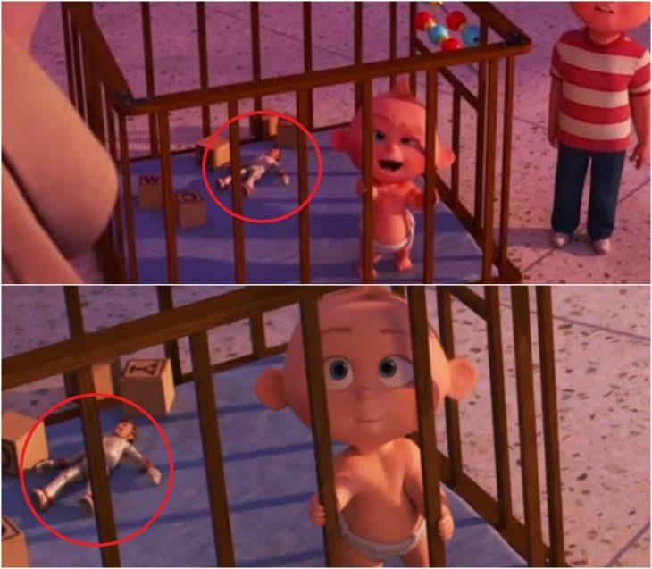 Escena de la película Los Increíbles 2, Jack Jack dentro de su cuna