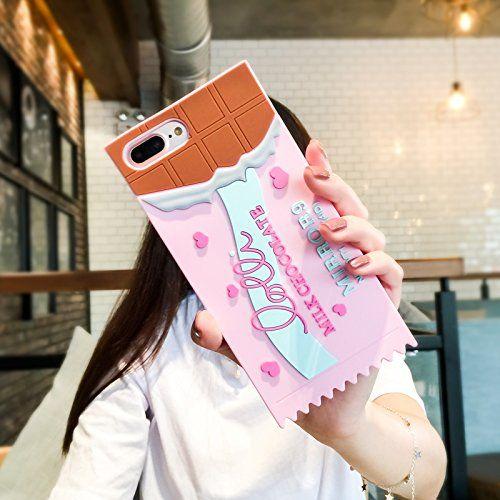 Funda para celular tamaño extra grande con diseño de barra de chocolate