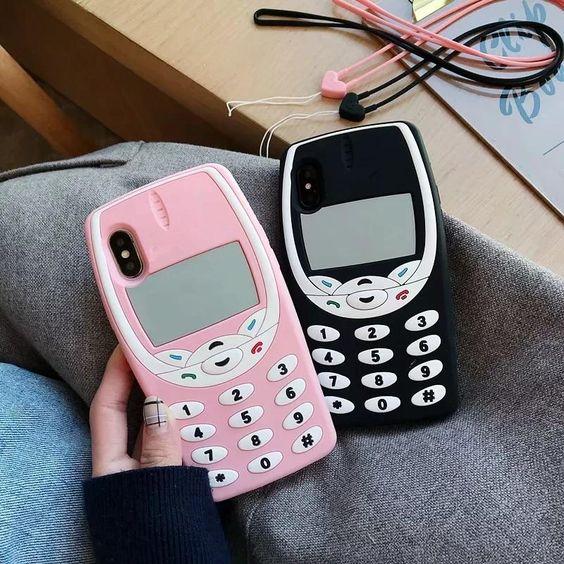 Fundas para celular tamaño extra grande con diseño de móvil de 1990