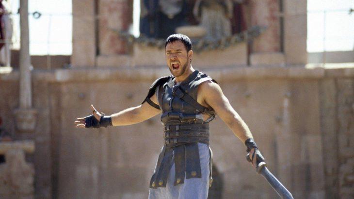 Russel Crowe en escena de Gladiador