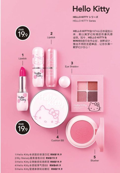 Nueva línea cosméticos Hello Kitty por Miniso