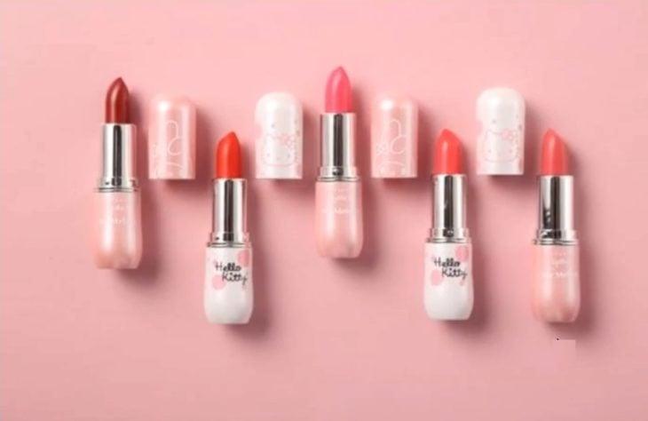 labiales Nueva línea cosméticos Hello Kitty por Miniso