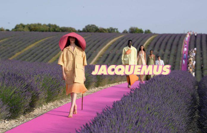 Presentación del desfile del diseñador Jacquemus en los campos de lavanda de Francia