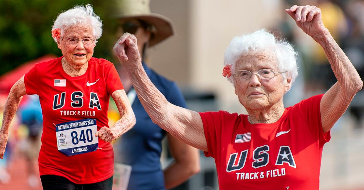 Mujer bate récord en las pistas de atletismo a los 103 años