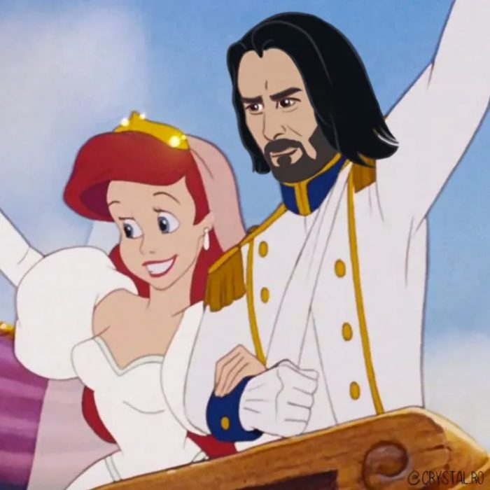Animación de Ariel con Keanu Reeves como el príncipe Eric, La Sirenita