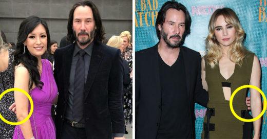 Keanu Reeves no toca a las mujeres en las fotos