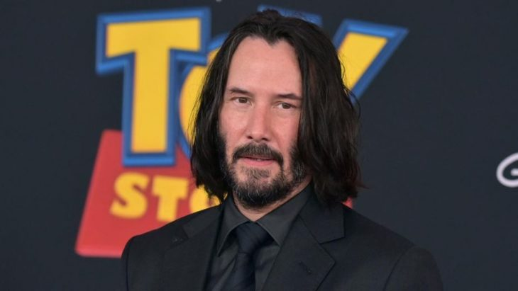 Keanu Reeves en la presentación de Toy Story 4