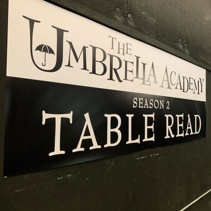 Foto del anuncio de la temporada dos de The Umbrella Academy