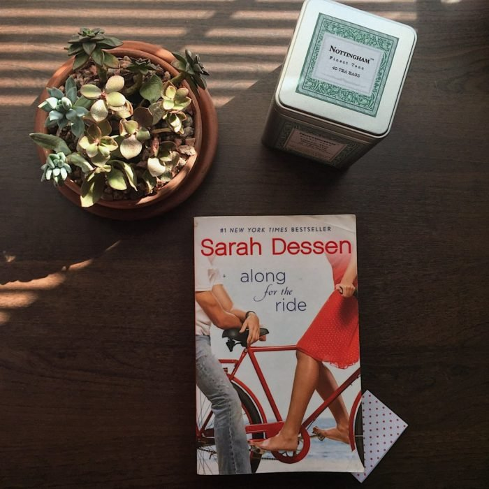 Portada del libro along for a ride de Sarah Dressen