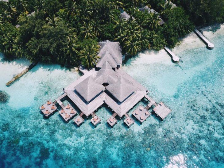 Hotel Coco Palm Dhuni Kolhu de Malvidas visto desde el aire
