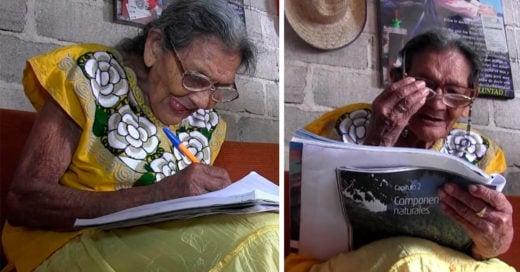Lupita, la abuelita que aprende a leer y a escribir a sus 96 años