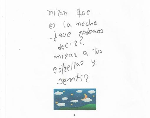 foto de un poema con la letra de Claudia Aranda