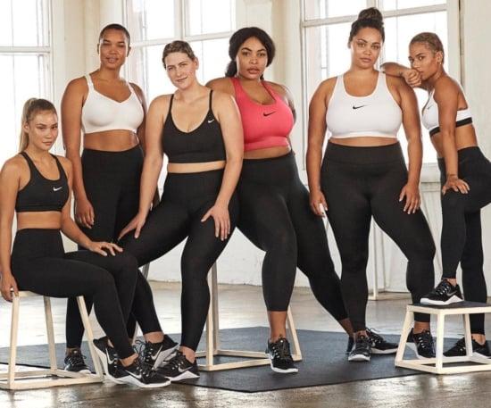 mujeres curvy y de tallas grandes con ropa deportiva de Nike