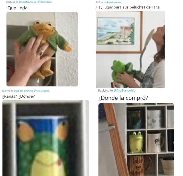 Hombre construye repisa a su novia para que exhiba su colección de tazas y de ranas, y conmueve a Twitter