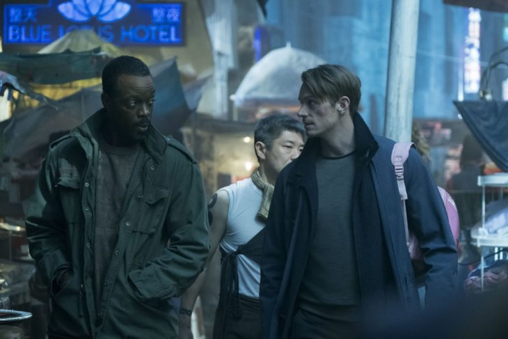 Películas y series en Netflix; Altered carbon con Joel Kinnaman como Takeshi