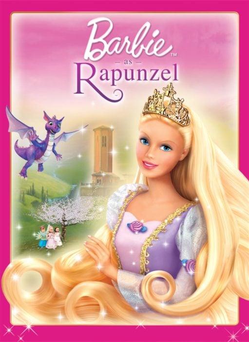 Poster del DVD de la película Barbie Rapunzel