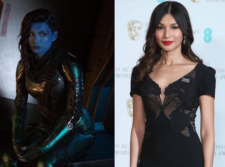 Personajes de Marvel caracterizados con y sin maquillaje de su personaje