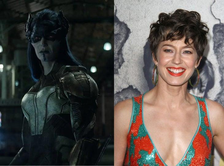 Personajes de Marvel caracterizada con el maquillaje de su personaje