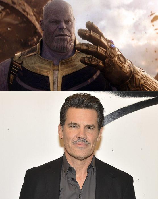Josh Brolin interpretando el personaje de Thanos