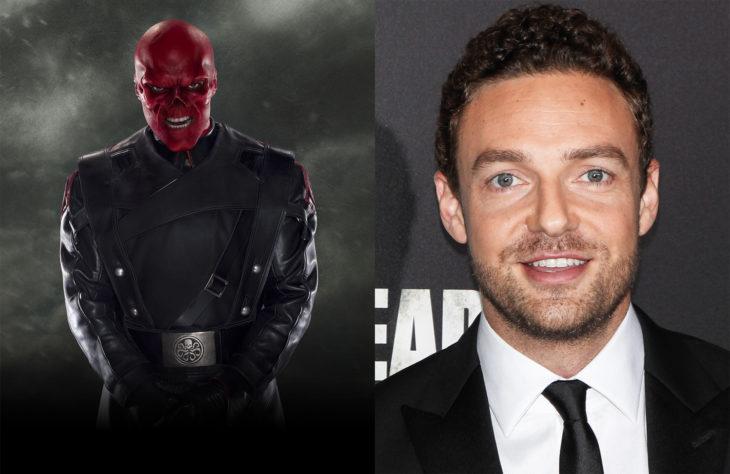Ross Marquand interpretando el personaje de Red Skull en Avengers