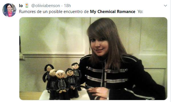 Comentarios en twitter sobre el posible reencuentro de My Chemical Romance