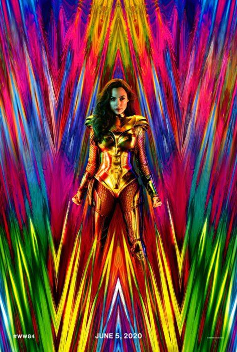 Gal Gadot vestida con armadura dorada para el póster oficial de Wonder Woman 1984