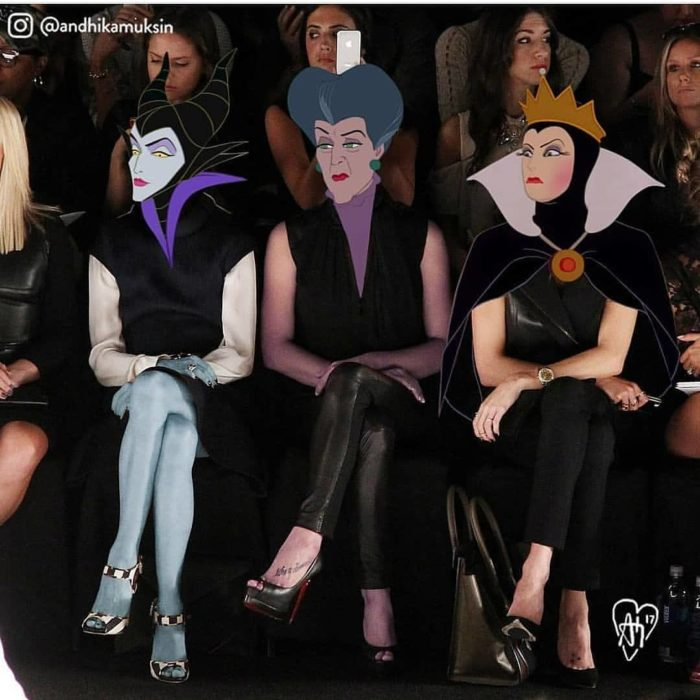 Artista Andhika Muksin recrea personajes Disney; la reina malvada de Blancanieves, lady Tremaine y Maléfica en desfile de modas