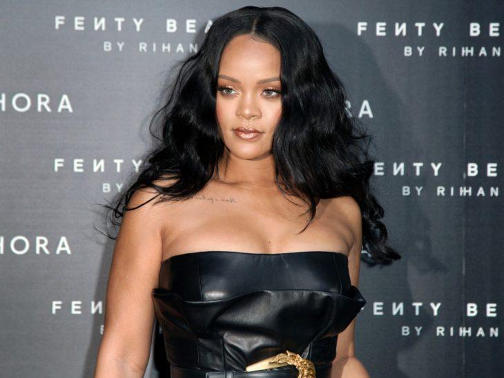 Rihanna en la presentación de su línea de ropa Fenty