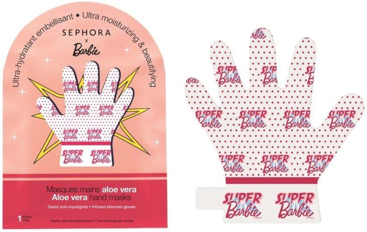 Mascarilla para manos de Sephora con aloe vera inspirada en Barbie