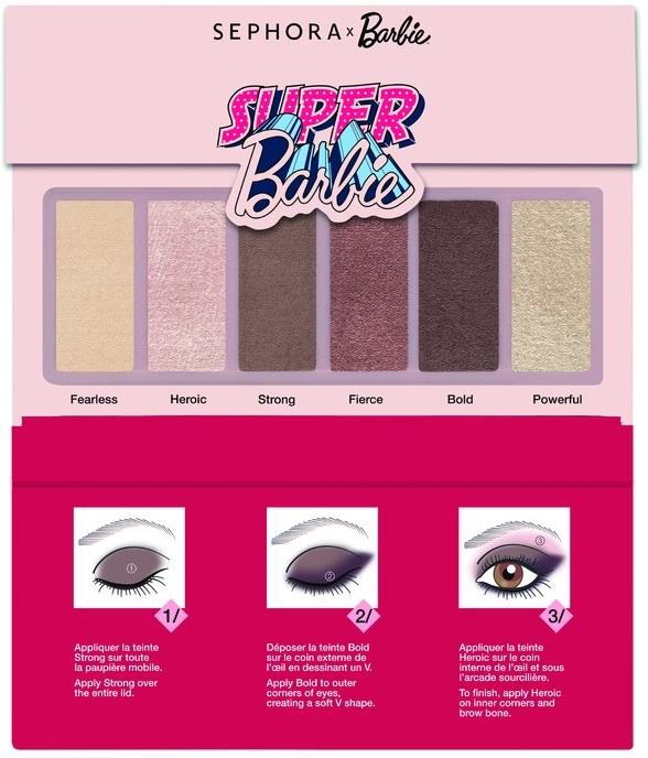 Set de sombras para ojos en color café de Sephora inspirada en Barbie