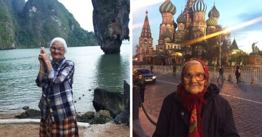 Mujer de 89 años viaja por el mundo y sorprende a las redes