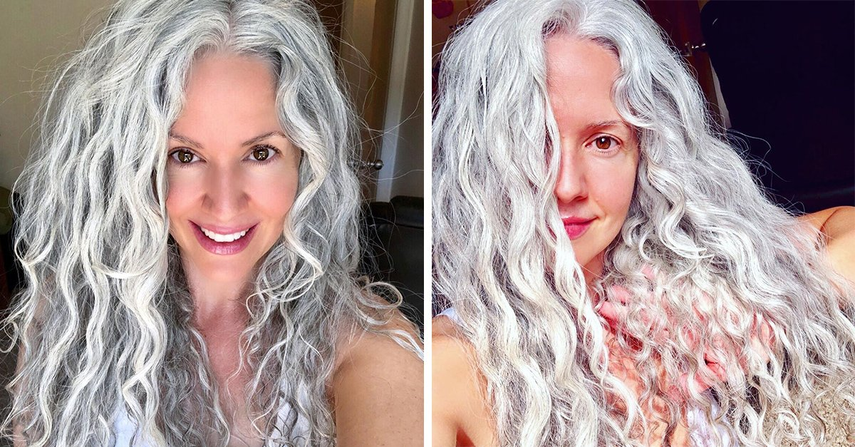 Dejó de teñir su cabello y ahora su melena es tan blanca como las nubes