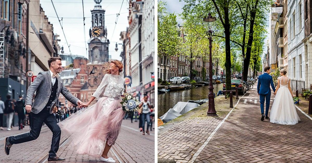 En Ámsterdam te puedes casar por un día y recorrer la ciudad en tu luna de miel