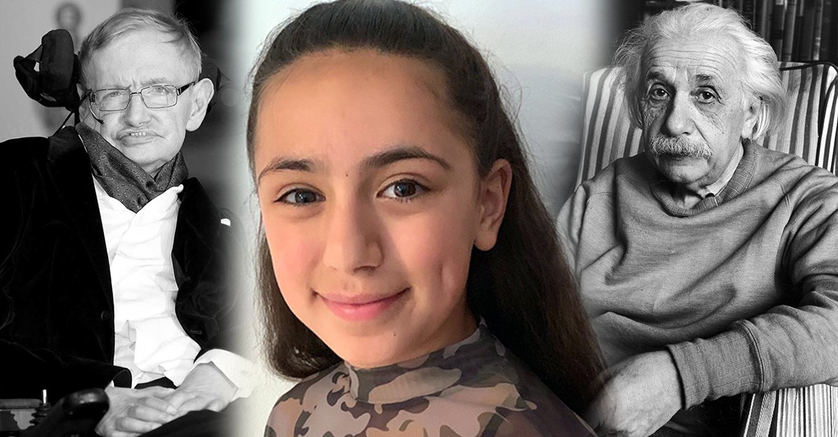 -Tara Sharifi, la niña iraní con un coeficiente intelectual mayor al de Albert Einstein y Stephen Hawking