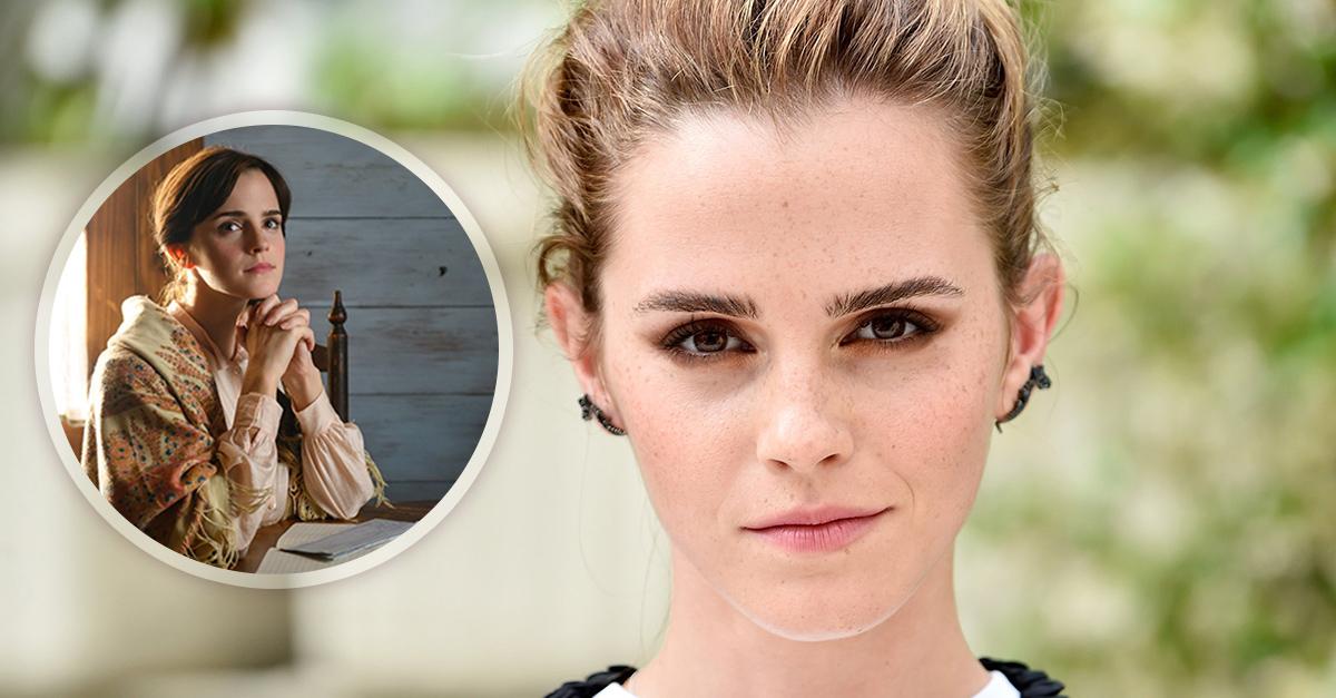 Presentan imágenes de Emma Watson en su papel de 'Mujercitas'