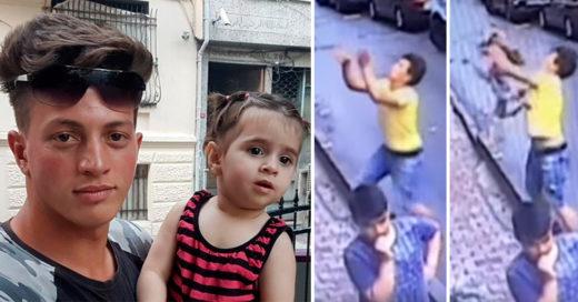 Héroe sin capa atrapa a una niña de dos años que cayó de un balcón, resultó ilesa