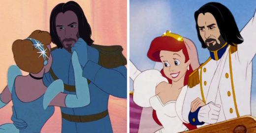 Así se vería Keanu Reeves como príncipe Disney