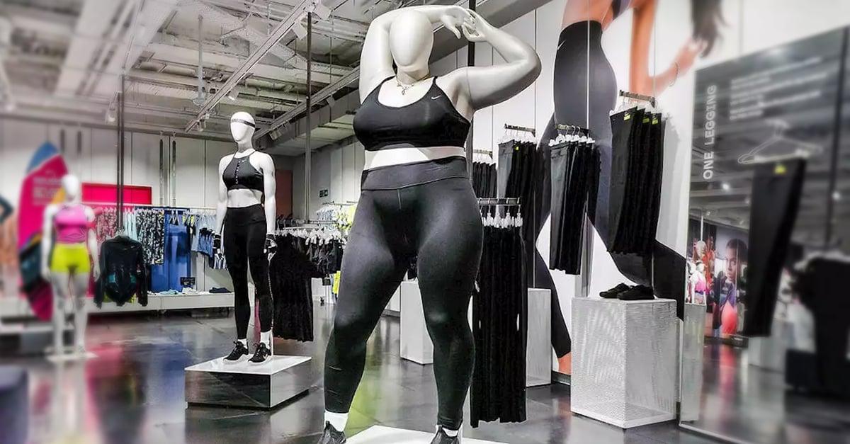 """-Nike """"piensa en grande"""", incluye maniquís de tallas extras"""