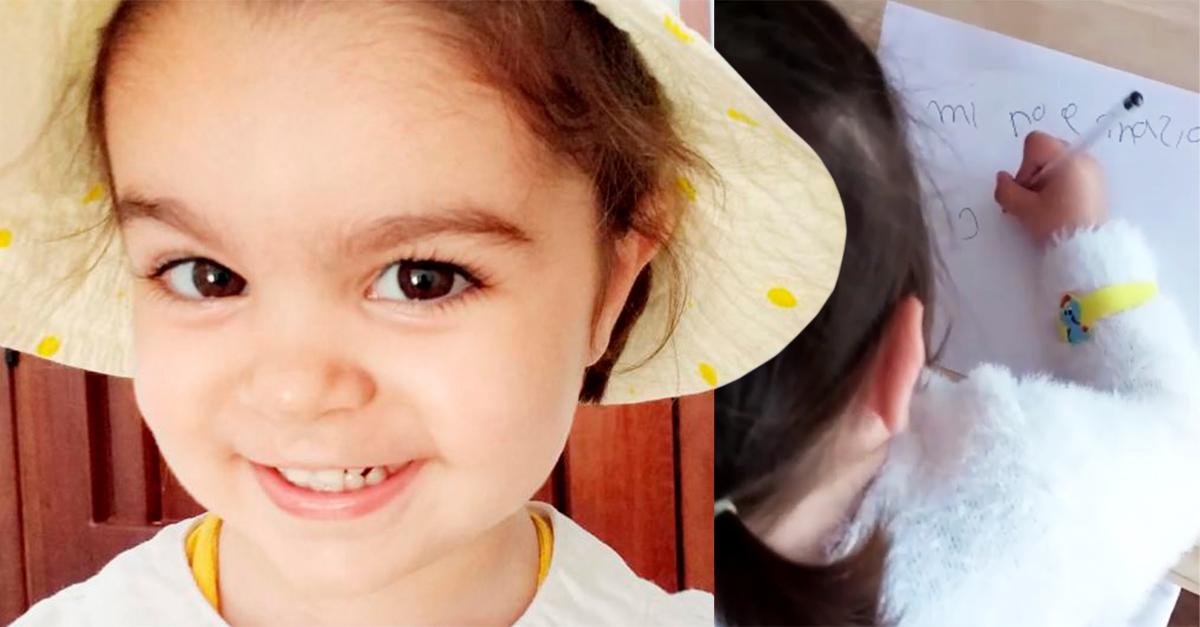 Claudia Aranda, la niña de dos años que lee, toca el piano y escribe poemas